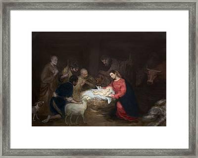 Nativity Framed Print by Walter Lynn Mosley