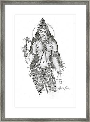 The Goddess Framed Print by Art Tantra
