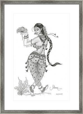 Dancing In Nature Framed Print by Art Tantra