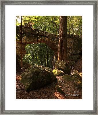 Natural Bridge  Framed Print by Janet Felts