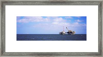 Natural Gas Drilling Platform In Mobile Framed Print by Panoramic Images