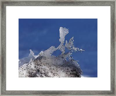 Natural Ice Sculpture Framed Print by Ernie Echols