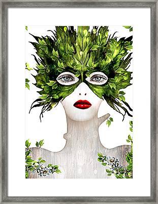 Natural Women Framed Print by Yosi Cupano