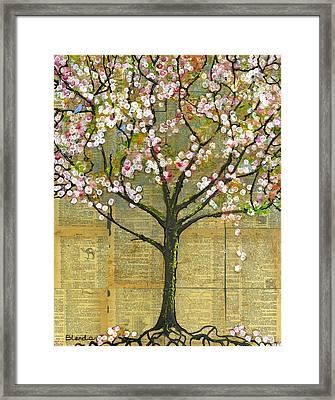 Nature Art Landscape - Lexicon Tree Framed Print by Blenda Studio