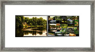 Nature Center 01 Collage Fullersburg Woods 2 Panel Framed Print by Thomas Woolworth