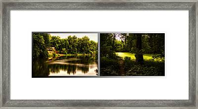 Nature Center 01 End Of Path Fullersburg Woods 2 Panel Framed Print by Thomas Woolworth