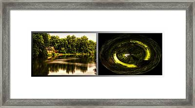 Nature Center 01 End Of The Path Polar View Fullersburg Woods 2 Panel Framed Print by Thomas Woolworth