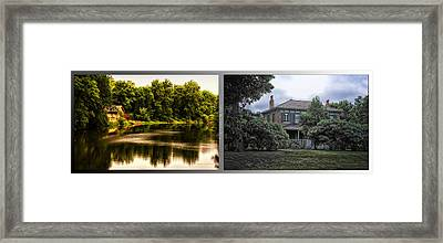 Nature Center 01 Italianate House Fullersburg Woods 2 Panel Framed Print by Thomas Woolworth