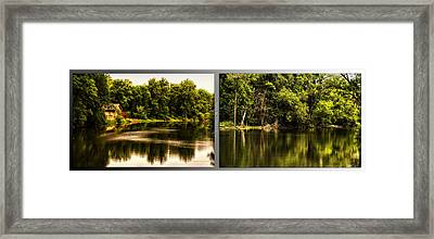 Nature Center 01 Salt Creek In August Fullersburg Woods 2 Panel Framed Print by Thomas Woolworth
