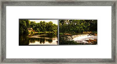 Nature Center 01 Teeter Totter Log Fullersburg Woods 2 Panel Framed Print by Thomas Woolworth
