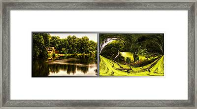 Nature Center 01 Under The Canopy Fullersburg Woods 2 Panel Framed Print by Thomas Woolworth