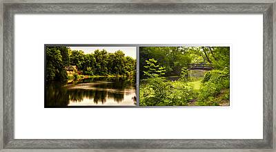 Nature Center 01 With Bridge Fullersburg Woods 2 Panel Framed Print by Thomas Woolworth