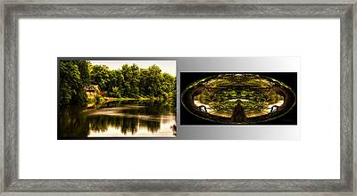Nature Center 01 Wood Polar View Fullersburg Woods 2 Panel Framed Print by Thomas Woolworth
