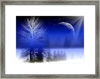 Nature In Blue  Framed Print by Mark Ashkenazi