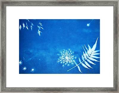 Nature In Celestial Blue Framed Print by Jenny Vajda
