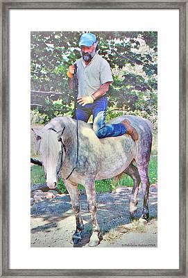 Nature Of The Beast- Enjoying His Paso Fino Stallion Framed Print by Patricia Keller
