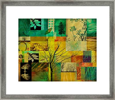 Nature Patchwork Framed Print by Ann Powell