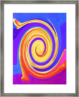 Nature Twirling Framed Print by Margaret Saheed