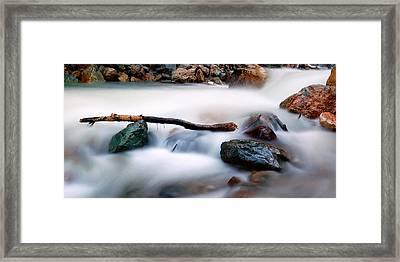 Natures Balance - White Water Rapids Framed Print by Steven Milner