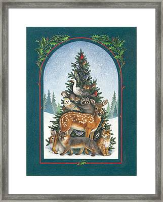 Nature's Christmas Tree Framed Print by Lynn Bywaters