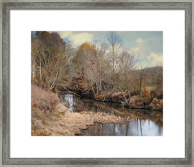 Nature's Glory - Autumn Stream Framed Print by Jai Johnson