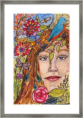 Nature's Healing Framed Print by Linda Marcille