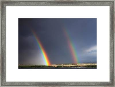 Natures Twin Towers Framed Print by Darren  White