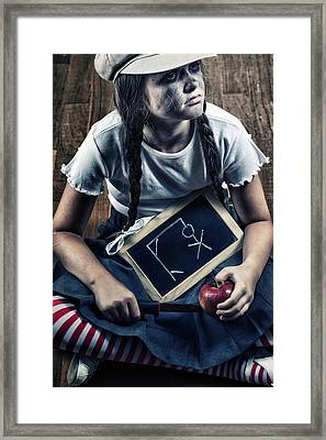Naughty School Girl Framed Print by Joana Kruse