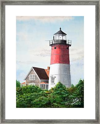Nauset Beach Memories Watercolor Painting Framed Print by Michelle Wiarda