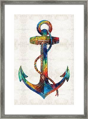 Nautical Anchor Art - Anchors Aweigh - By Sharon Cummings Framed Print by Sharon Cummings