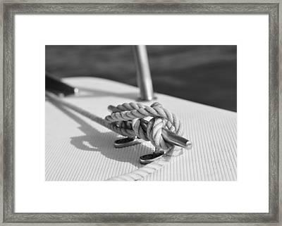 Nautical Framed Print by Laura Fasulo