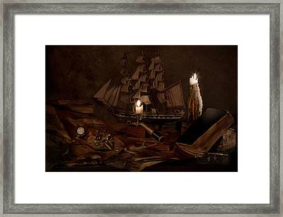 Nautically Inspired Framed Print by Mary Tomaino