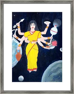 Nava Durga Kusmaanda Framed Print by Pratyasha Nithin