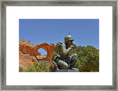 Navajo Code Talker - Window Rock Az Framed Print by Christine Till