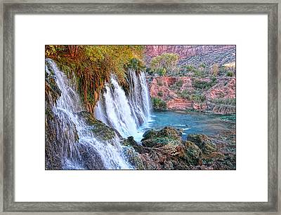 Navajo Falls Framed Print by Stellina Giannitsi