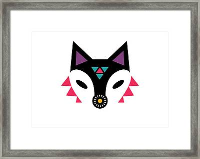 Navajo Fox Framed Print by Susan Claire