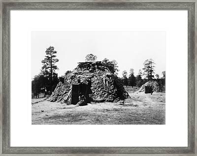 Navajo Hogan, C1905 Framed Print by Granger