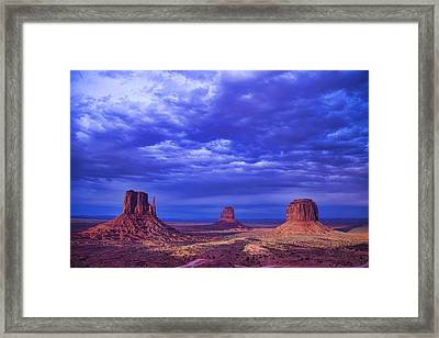Navajo Monument Valley Framed Print by Garry Gay