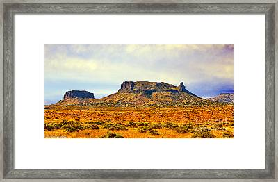 Navajo Nation Monument Valley Framed Print by Bob and Nadine Johnston