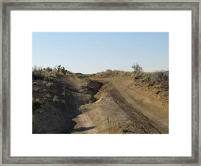 Navajo Two Track Framed Print by Feva  Fotos