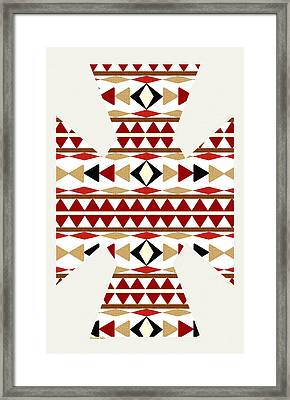 Navajo White Pattern Art Framed Print by Christina Rollo