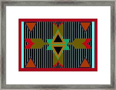 Navajo Wild Framed Print by Chastity Hoff