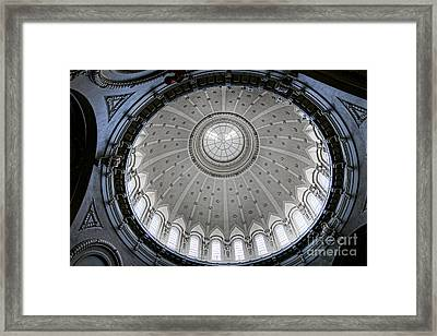 Naval Academy Chapel Dome Interior Framed Print by Olivier Le Queinec