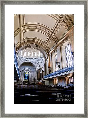 Naval Academy Chapel Interior Framed Print by Olivier Le Queinec