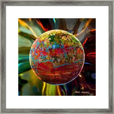 Na'vi Sphere Framed Print by Robin Moline