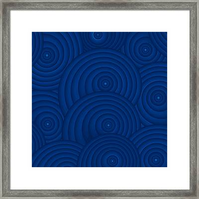 Navy Blue Abstract Framed Print by Frank Tschakert