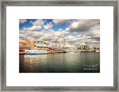 Navy Pier Chicago Photo Framed Print by Paul Velgos
