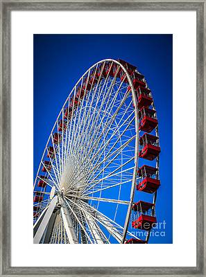 Navy Pier Ferris Wheel In Chicago Framed Print by Paul Velgos