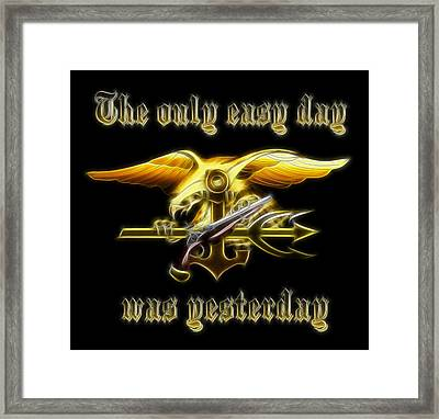 Navy Seals Framed Print by Ricky Barnard