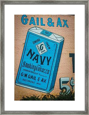 Navy Smoking Tobacco Framed Print by Paul Freidlund
